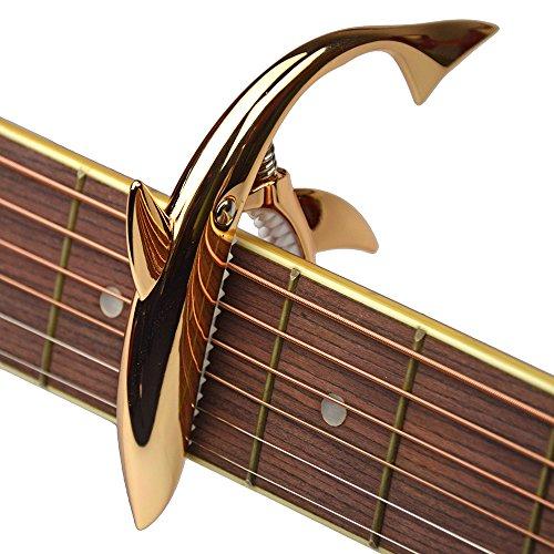 Shark Capo,Zinc Alloy Tone Clip for Acoustic,Folk,Electric Guitar and...