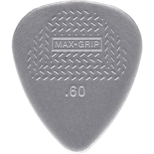 Dunlop 449P.60 Max-Grip Nylon Standard, Light Gray, .60mm, 12/Player's...