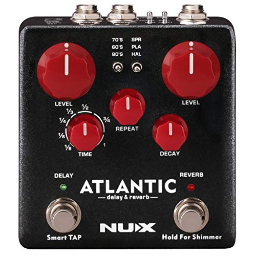 NUX Atlantic Multi Delay and Reverb Effect Pedal with Inside Routing...