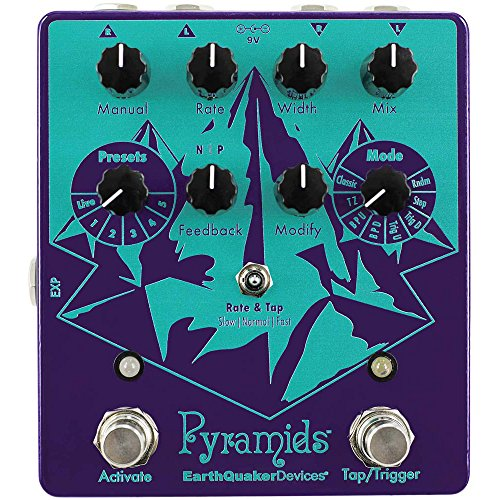 EarthQuaker Devices Pyramids Stereo Flanging Device Guitar Effects...
